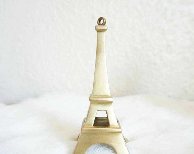 Solid Brass Eiffel Tower Paris France Figurine - 4.5""