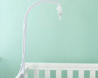 Crib arm for mobile, Crib arm attachment, baby crib mobile arm attachment, white crib attachment