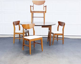 Danish Modern Dining Set ~ Mid Century Dining Table And Chairs ~ Walnut ...