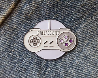 SNES - 'Still Addicted' Enamel Pin