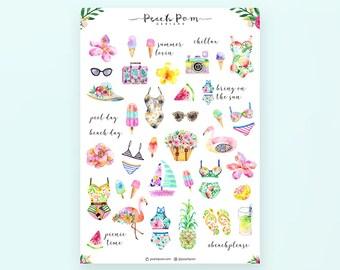 Summer - Deco Planner Stickers