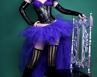 Royal Dark Purple High Low Floor length  Gothic Formal Bustle TuTu Adult All Sizes MTCoffinz
