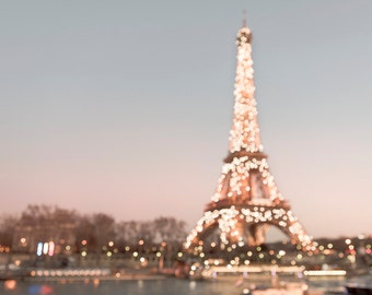 Paris Photography - Sparkling Eiffel Tower with Twinkle Lights, Paris Fine Art Photograph, Home Decor, Large Wall Art