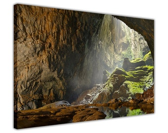 Hang Son Doong Cave Thailand on Canvas Pictures Wall Art Framed Prints Home Decoration Photos Modern Artwork Poster Nature 18 mm Thick Frame