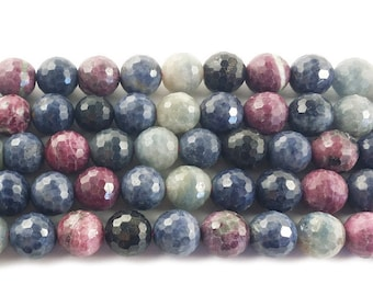 Ruby Sapphire Faceted Gemstone Beads