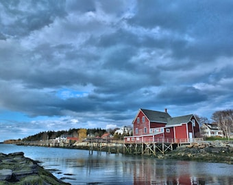 Photo of  Orr's Island on Harpswell Sound in Harpswell, Maine.