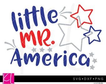 Little Mr America svg, 4th of July svg, Little Mister svg, Forth of July svg, Patriotic svg, Independence Day svg, Boy 4th of July svg