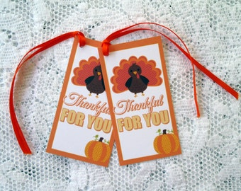 Thankful For You Tags Thanksgiving Tags