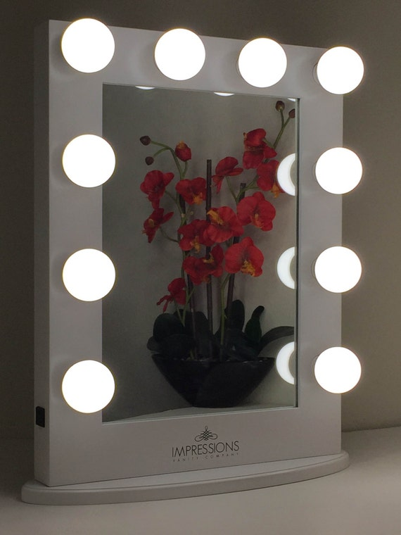 Nice Items Similar To Hollywood Classic Lighted Make Up Vanity Table Top Mirror  ***Large*** White Dimmable On Etsy