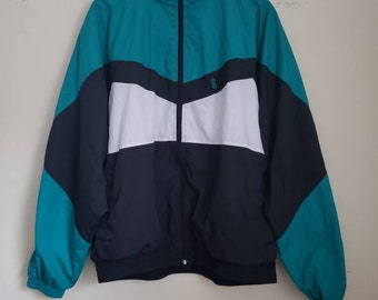90's Bill Blass Color Block Athletic Jacket Men's Size  XL