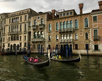 Gondolas in Venice Print