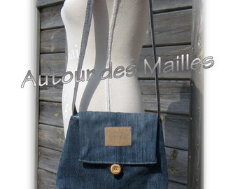 Upcycled Blue Jeans bag