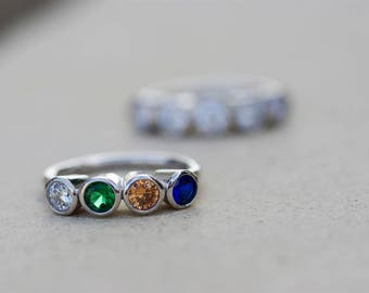 Mothers Ring, Family Rings, Mothers Birthstone Rings, Grandmothers Ring, Family Birthstone Rings, Grandma Rings, Mom Ring, Gifts for Mom