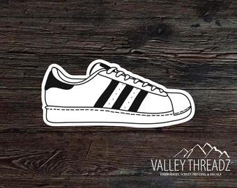 Sneaker Decal - Sneaker Vinyl Sticker - Tennis Shoe Sticker - Car Window  Decal - Stickers
