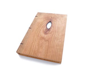 Maple Wooden Notebook Wood Journal Sketchbook Rustic Wood Wedding Guest Book Personalized Journal Refillable Journal Custom Journal