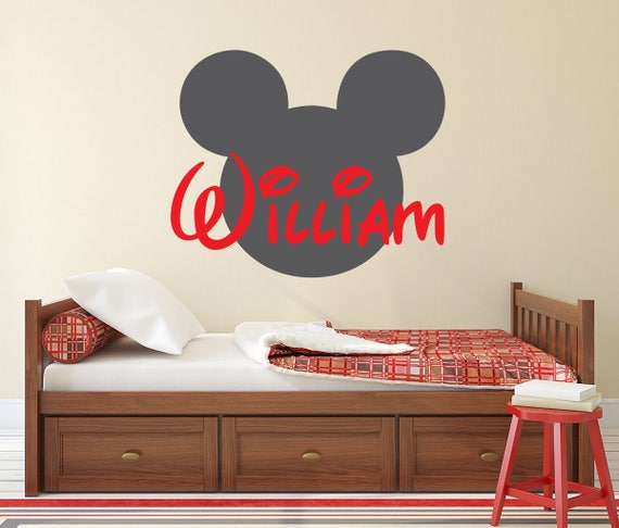 & Name Wall Decal Disney Decal Mickey Mouse Wall Art Disney