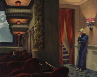 New York Movie by Edward Hopper Home Decor Wall Decor Giclee Art Print Poster A4 A3 A2 Large Print FLAT RATE SHIPPING