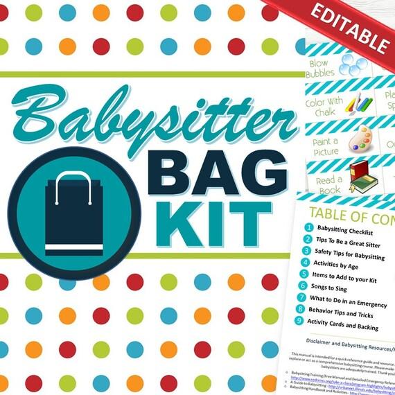 babysitting checklists