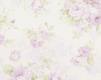 Lavender Floral Fabric - By The Yard - Girl / Modern / Fabric