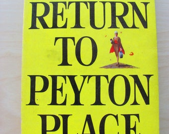Return to Peyton Place Vintage Paperback Book Grace Metalious Fiction Novel Romance Glamour Hollywood 1950s Rockabilly Midcentury New York