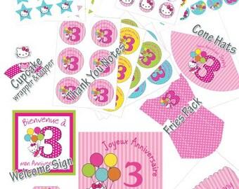 Hello Kitty Birthday Package | Hello Kitty printables | Hello Kitty theme