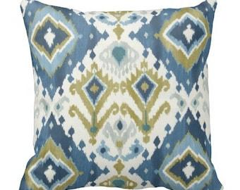chair pillow, throw pillows, decorative pillows, ikat couch pillows, blue ikat pillow covers, ikat pillows, blue pillows, lumbar pillow