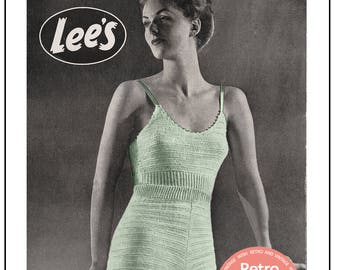 1940's Camisole Vest and Knickers - PDF Lingerie Knitting Pattern