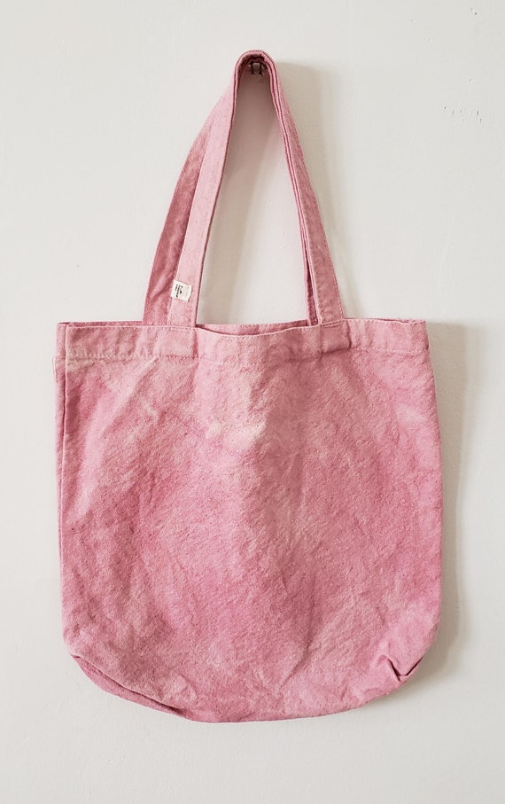 Mini Botanically Dyed Canvas Tote / Natural Dyed / Cotton Canvas Tote / Tote Bag /  Botanical Color / Hand dyed / Slow Fashion
