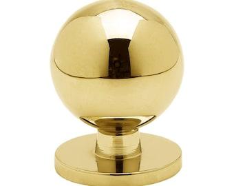 Modern Pulls | Gold Knob | Cabinet drawer knob | Round knob | Bedroom pulls | Round Handles | Furniture Hardware | Gold brass 339431-11