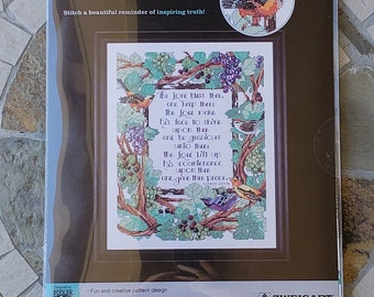 The Lord Bless Thee - by Artiste - Kooler Design Studio - Counted Cross Stitch Kit - Brand New in Package - 1215474 – Zweigart