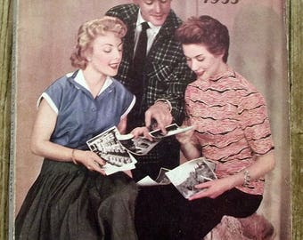 Almanac Le petit Écho de fashion Almanac 1955 sewing, knitting, knitting antique french magazine
