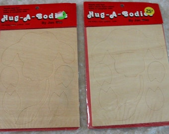 Decorative Tole Painting Wood Plaques Hug-A-Body Large Cow Kits Designed by Jan Way