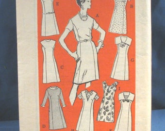 Vintage Sewing Pattern 4866 Misses Dress with 9 Variations size 14