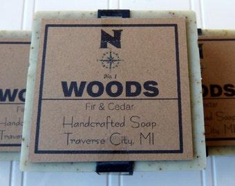 Fir Soap, Cedar Soap, Handmade Soap, Mens Soap, Natural Soap