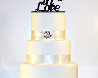 Lucky in Love Wedding Cake Topper