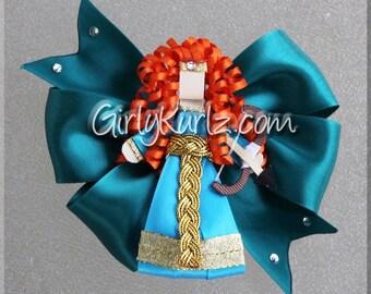 Brave Hair Bow, Merida Hair Bow, Brave Hair Clip, Merida Hair Clip, Hair Bows for Girls, Hair Accessories