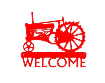 Red Tractor Wall design instant download cut file SVG DXF EPS for Cameo and Cricut Explore machines