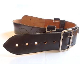 Sam British Army Brown Leather Belt - Officers Ceremonial - Excellent Condition - E536