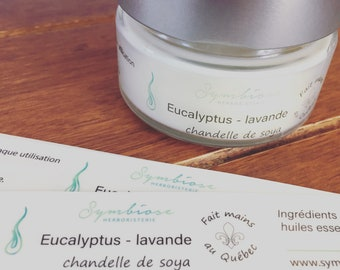 EUCALYPTUS-Lavender soy, candle, home fragrance candle