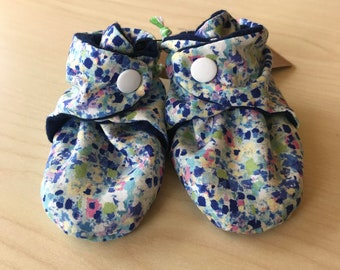 Watercolor Floral Booties 0-3 months