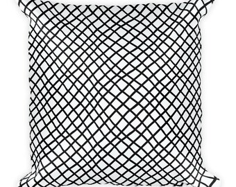 Black mesh,Square Pillow, Cover with stuffing, USA, printful