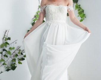 simple Wedding Dress/boho wedding dress/simple beach wedding dress/bohemian wedding dress/casual wedding dress/simple boho wedding dress,
