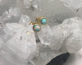 Brass infinite universe stud earrings