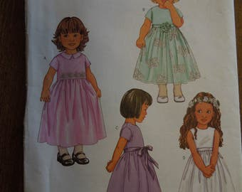 Butterick 3406, sizes 1-4, toddlers, dress, UNCUT sewing pattern, craft supplies