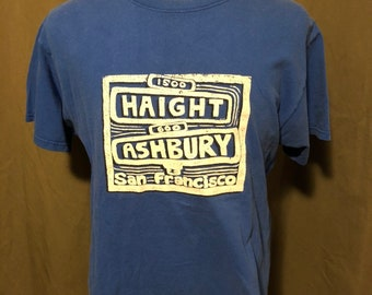 Vintage San Francisco Haight and Ashbury T-Shirt, Size Large