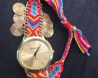 Free shipping within the United States,Bohemian braided watch, Bohemian Watch,Boho Chic Women Watches ,Gift for Mom,Teen Gift Ideas.