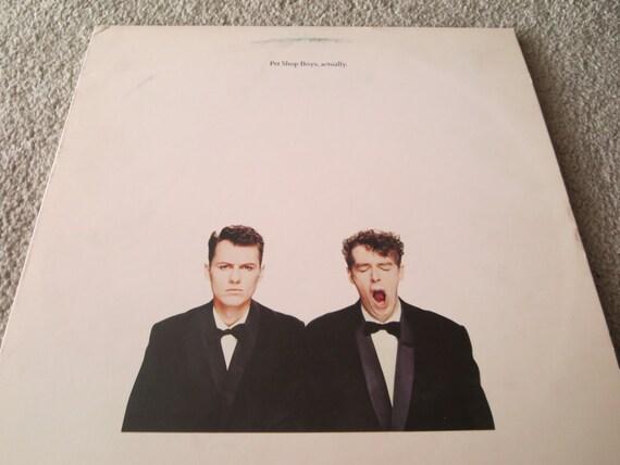 David Jones Personal Collection Record Album - Pet Shop Boys - actually
