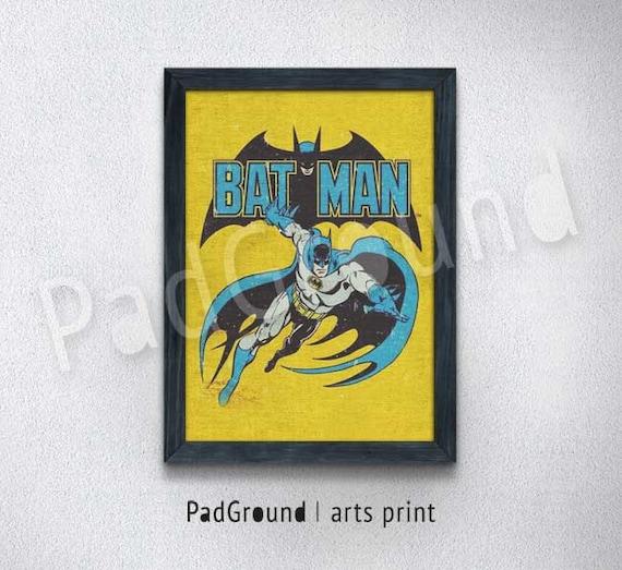 Batman Prints Superhero Prints DC Comics Vintage Gifts