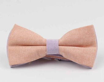 Bowstie - Hand made bowtie - Orange & Purple