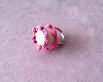 Fancy Cake ring, polymerclay